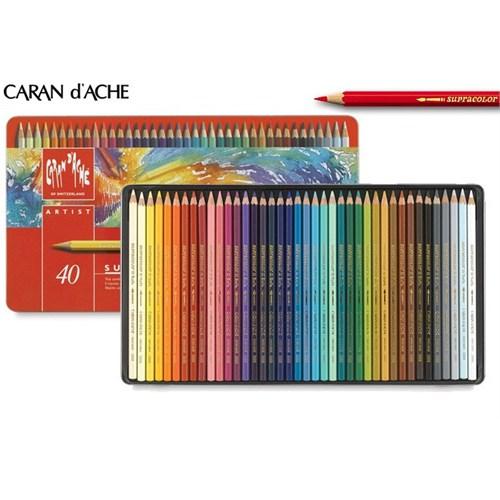 Caran D'ache Supracolor 40 Renk Aquarell Boya Kalemleri