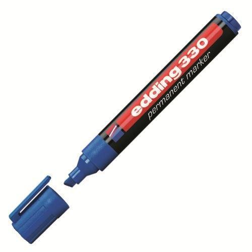 Edding 330 Permanent Marker Kesik Uçlu Kalem ( Mavi )
