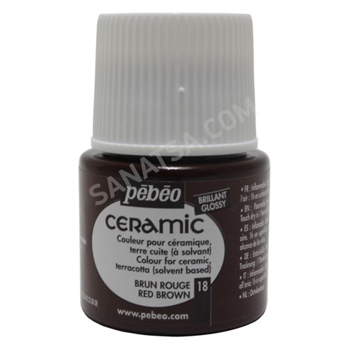 Pebeo Ceramic Seramik Boyası 18 Red Brown