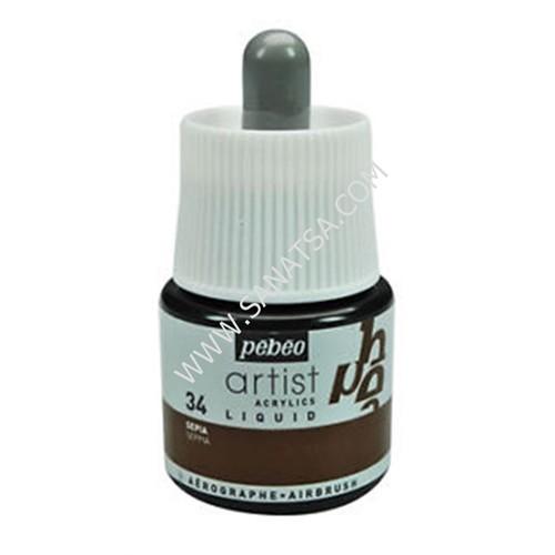 Pebeo Artist Acrylics Liquid Ink Sıvı Akrilik Mürekkep Sepıa