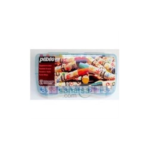 Pebeo Yağlı Pastel Boya Plastik Kutulu 12 Renk