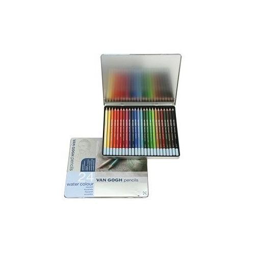 Talens Van Gogh Watercolor Pencil Aquarel Boya Metal Kutu 24 Renk