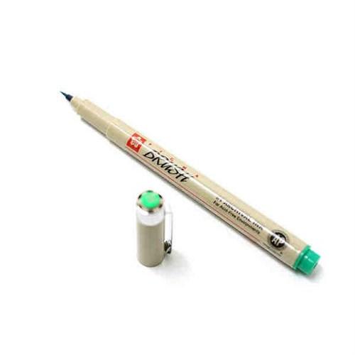 Sakura Pigma Brush Pen Çizim Kalemi Fırça Uçlu Green Yeşil