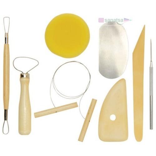 Lutart Seramik Başlangıç Seti 8 Parça (Pottery Tool Kit)