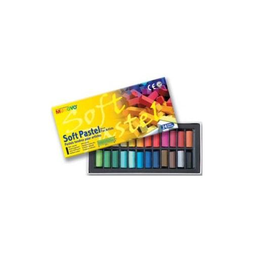 Mungyo Gallery Artists' Soft Pastel 24 Renk Yarım Boy