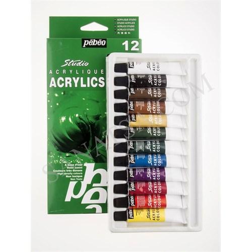 Pebeo Acrylic Studio Set 12 Renk Akrilik Boya
