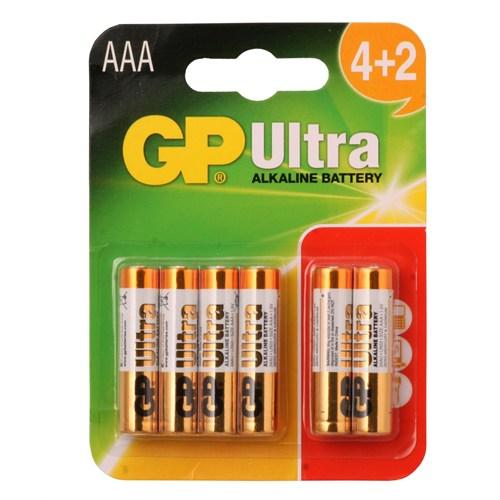 Gp Lr03 Ultra Alkalin (4+2) İnce Kalem Pil