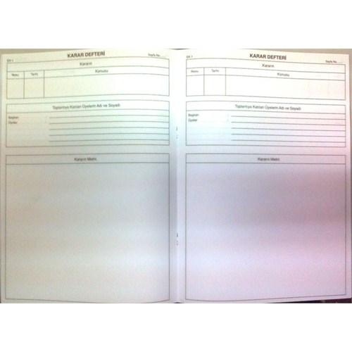 Dilman Karar Defteri Karton Kapak