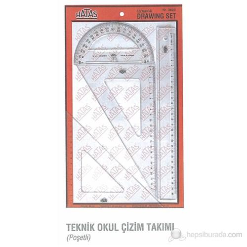 Hataş Öğrenci Tipi Teknik Okul Çizim Takımı 26cm