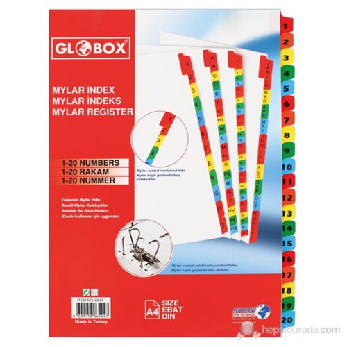 Globox Mylar Separetör 1-20 Rakam 6544