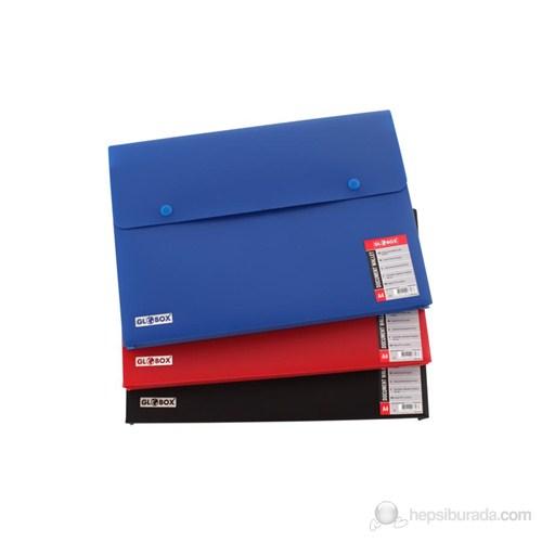 Globox Çift Çıtçıtlı Kırmızı Evrak Dosyası 6229