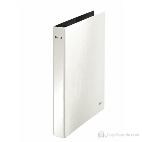 Leitz 4 Halkalı Klasör Wow Metalik Beyaz 42421001