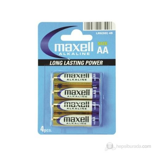 Maxell LR06 AA Alkalin 4'lü Kalem Pil