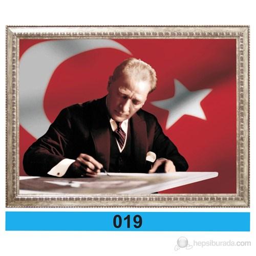 İnter 50x70 cm Varaklı Atatürk Portresi İNT-019