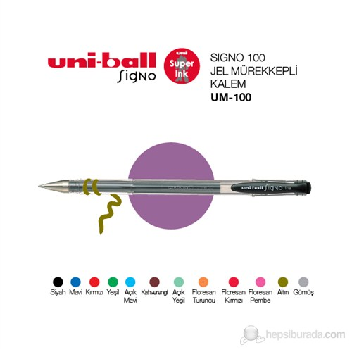 Uni-ball Signo 100 Jel Mürekkepli Kalem 0,7 1'li (UM-100)