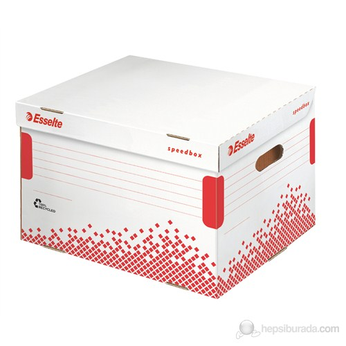 Leitz Esselte Speedbox Klasör İçin Arşiv Kolisi Beyaz-Kırmızı 623914 15'li