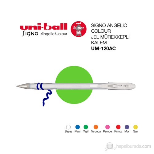 Uni-ball Signo Angelic Colour Jel Mürekkepli Kalem 0,7 1'li (UM-120AC)
