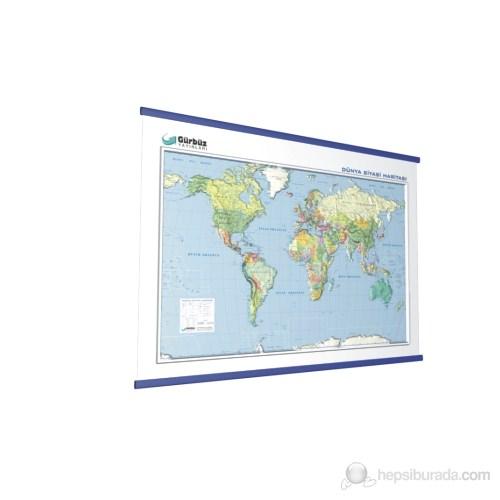 Kabartma Dünya Siyasi 70X100 Haritası