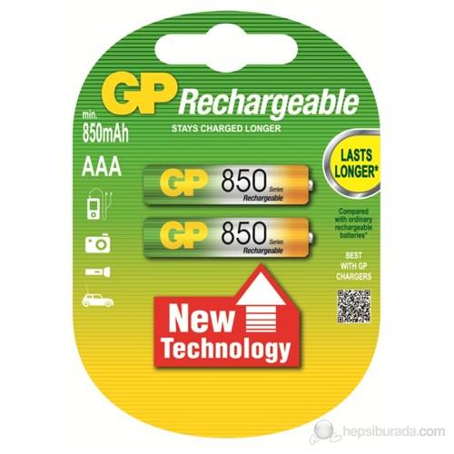 GP 2'li ReCyko 850 Serisi Ni-Mh Şarj Edilebilir AAA İnce Pil (GP85AAAHCEMTR-2GB2)