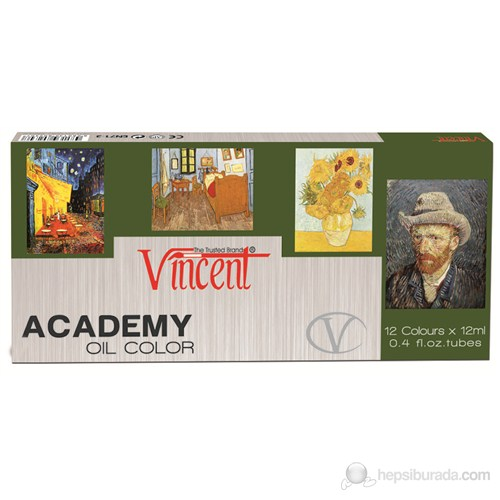 Vincent Yağlı Boya Set 12ml.x12