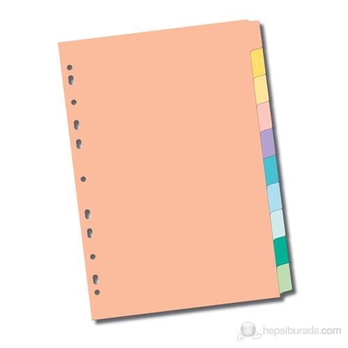 Serve Pastel Seri Karton Ayraç/5 Renkli,Kulakçıklara Yazı Yazılabilir Ve Silinebilir,Mylar İle Güçlendirilmiş Delikler Ve Kulakçıklar Kağıt Kalınlığı 180Gr/M² Sv-5105
