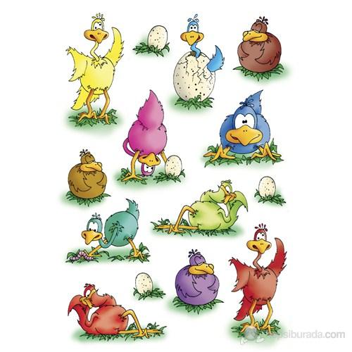 Herma Çocuk Etiketi Sevimli Tavuklar