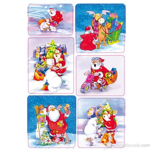 Herma Çocuk Etiketi Noel Baba