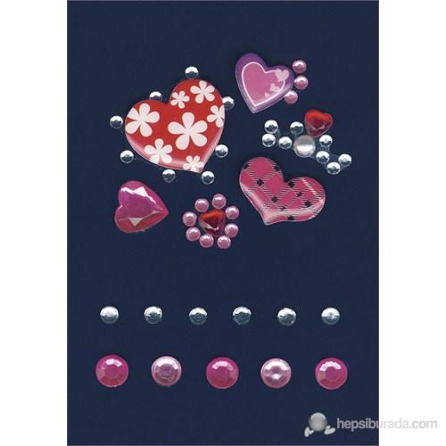 Herma Glamrocks Işıltılı Desenli Kalpler Ve Taşlar 6006