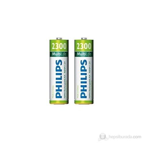 Philips R6B2A230 AA 2300 Mah Şarj Edilebilir 2'Li Kalem Pil