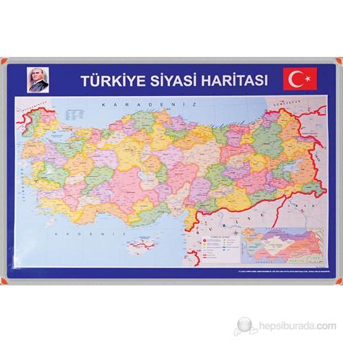 Panda 401 70X100 Türkiye Siyasi Haritası (Alüminyum Çerçeve)