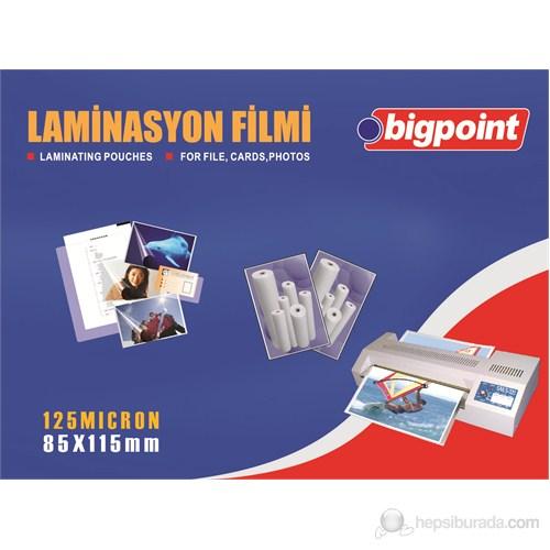 Bigpoint Laminasyon Filmi 85X115 125 Micron
