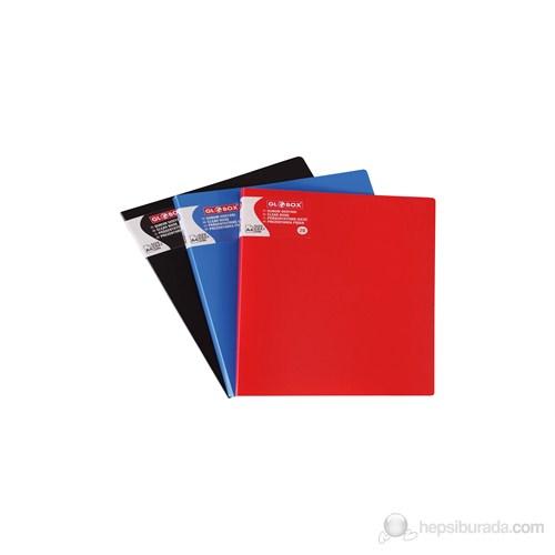 Globox Sunum Dosyası Kırmızı 40-Sayfa 6200