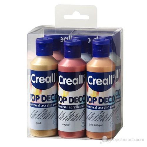 Creall Topdeco 80ml 6'lı Set Akrilik Boya Metalik Renkler