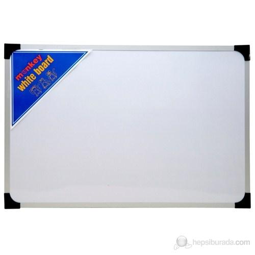 Monkey 65 x 100 Metal Çerçeve Duvara Monte Yazı Tahtası (Beyaz-Yeşil-Siyah) Dmyt065100