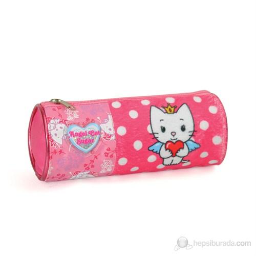Angel Cat Sugar Kalem Çantası 21*10*7 cm (Pembe)