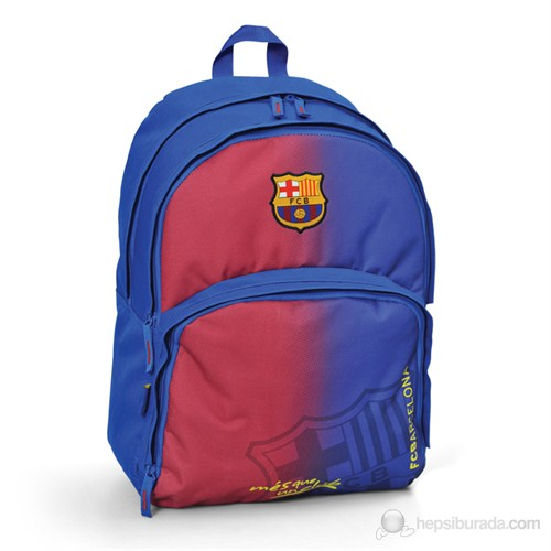 Barcelona Okul Çantası 33*45*22 cm (Bordo-Mavi)