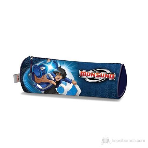 Monsuno Kalem Çantası 21*10*7 cm (Mavi-Gri)