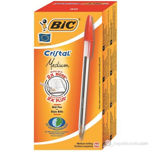 Bic Cristal Medium Tükenmez Kalem 50'Li Kutu Kırmızı