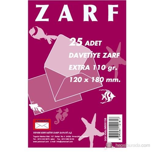 Yener M000158 Davetiye Zarfı 120x180 110gr Extra 25'li