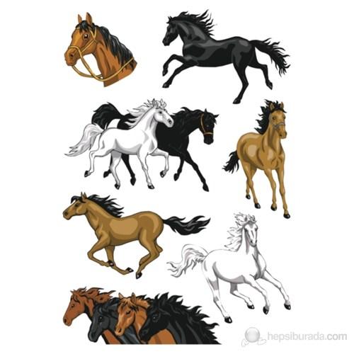 Herma Çocuk Etiketleri Koşan Atlar