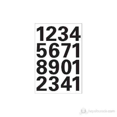 Herma Ofis Etiketleri Harf Ve Rakam 0-9 Sayı 25 Mm 4168