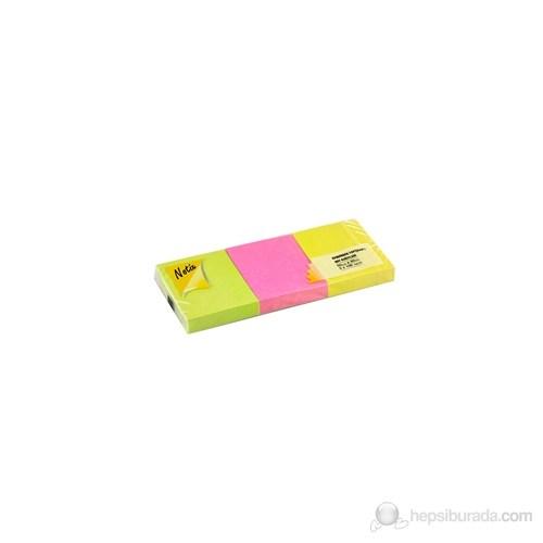 Notix Neon 3'lü 100 Yaprak 50x40 Yapışkanlı Not Kağıdı