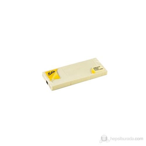 Notix Pastel Sarı 3'lü 100 Yaprak 50x40 Yapışkanlı Not Kağıdı