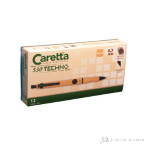 Caretta 530 Techno Versatil Kalem 0.7 2' Li Blister