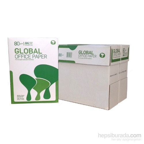 Global A4 80 Gr/m² Fotokopi Kağıdı (5'li Paket / Koli)