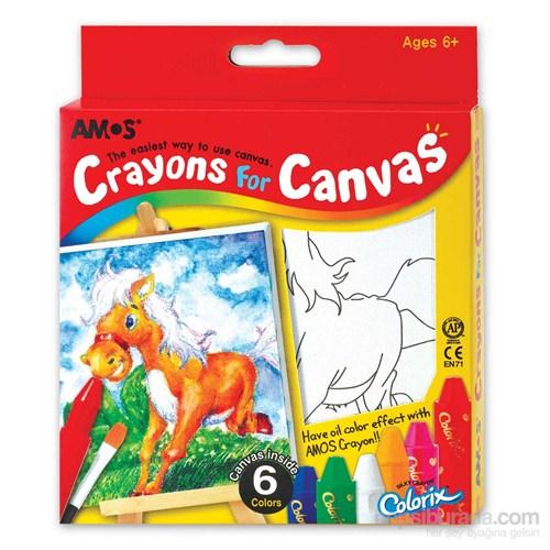 Amos Crayon for Canvas Pastel Boya Seti (Tuval +Boya)