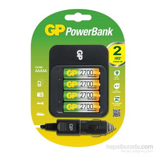 GP Powerbank PB550 Pil Şarj Cihazı GP2700 Şarjlı Kalem Pil Hediyeli