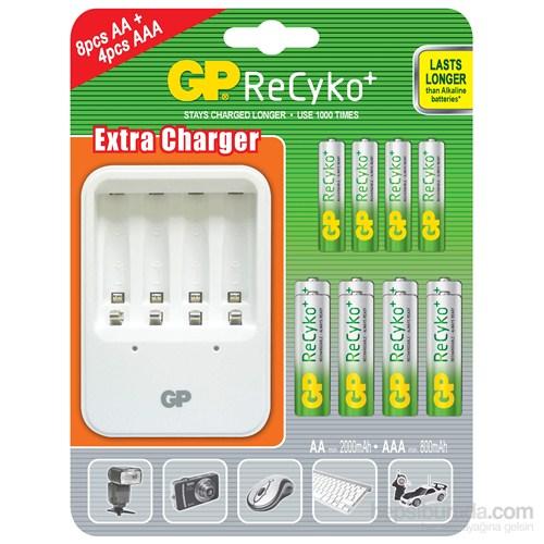 GP Powerbank PB420 Pil Şarj Cihazı 8 Adet Recyko Kalem 4 Adet Recyko İnce Kalem Pil Hediyeli