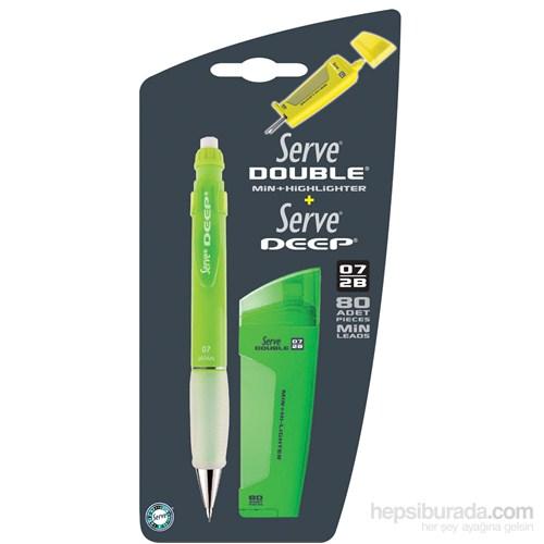Serve Double Erase Ve Deep Mekanik Kurşun Kalem 07 2'Li Blister Gök Mavi Sv-Bdsmdgm 07