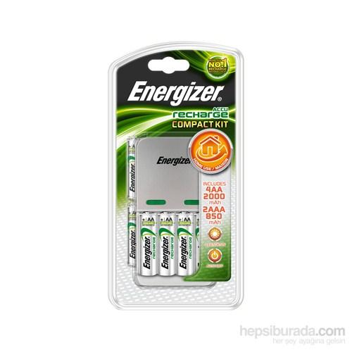 Energizer (F27-3917) Compact Kit Şarj Cihazı 4xAA 2000 mAh + 2xAAA 850mAh Pilli